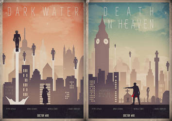 Doctor Who - Season 8 Finale Diptych Poster Set by foreverclassic