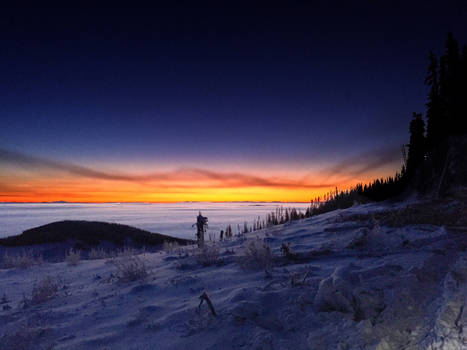 Sunrise on a Sea of Cloud