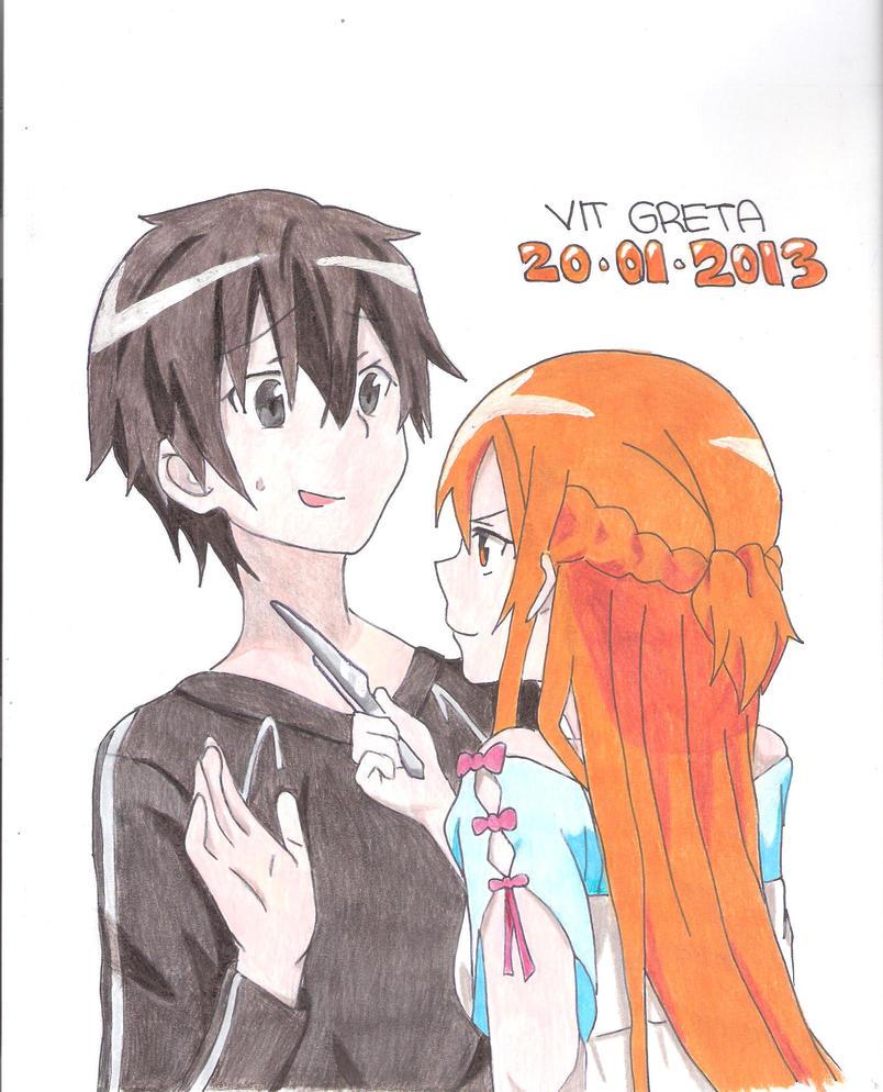Kirito and Asuna by Jelly9614