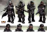 Killzone Mercenary: Helghast Paratroopers