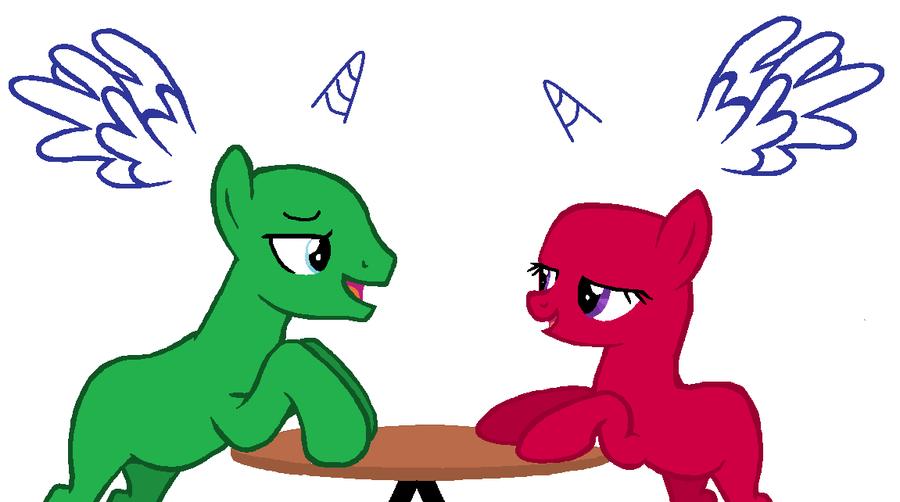 Free Pony Couple Base by Vegabases