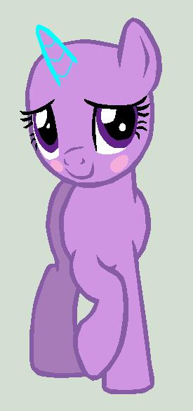 Blushy Pony Base by Vegabases