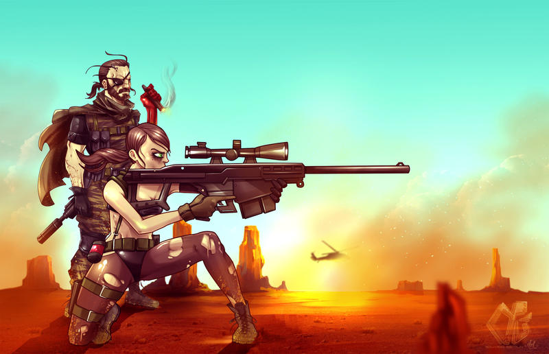 Quiet MGS V by eduardosecolin