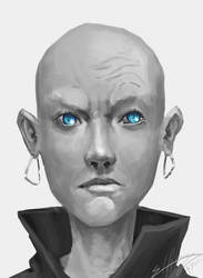 Blue eyes by Elfios