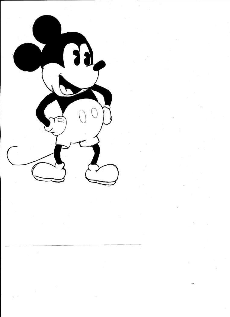 Gangster Mickey Mouse Coloring Pages
