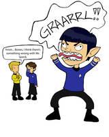 Spock Pon Farr by monicaaofthesand