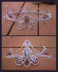 Frozen Lightning Coronet by razzigyrl