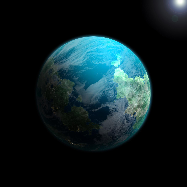 planets surrounding earth - HD1500×1500