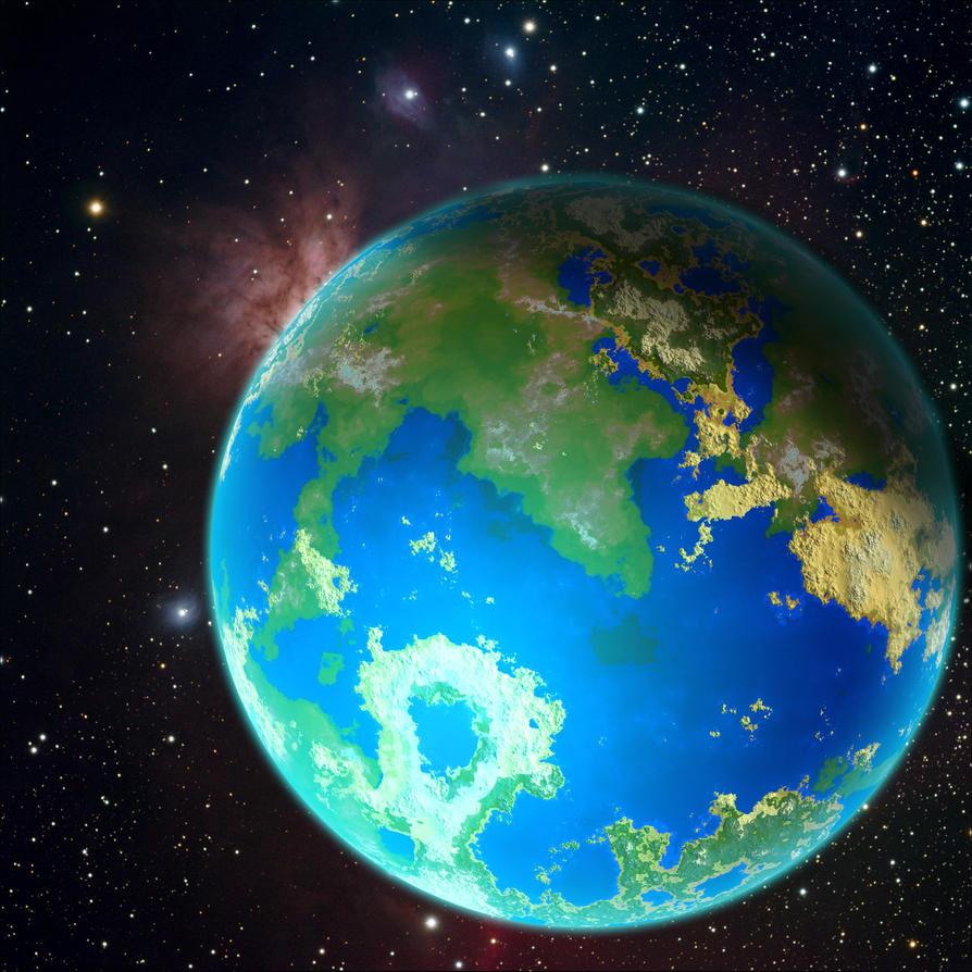 Earthlike Planet 6 by bbbeto on DeviantArt