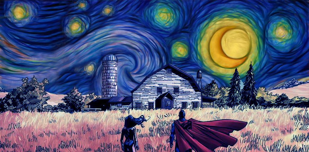 Starry Night Painting Image