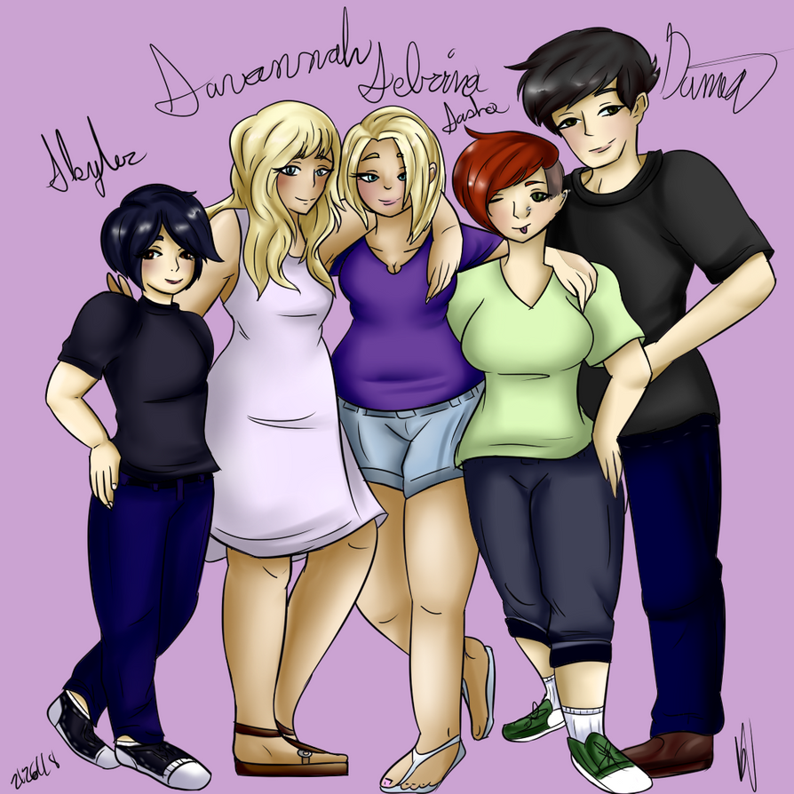 Family Photo Commission by Sniffy678578