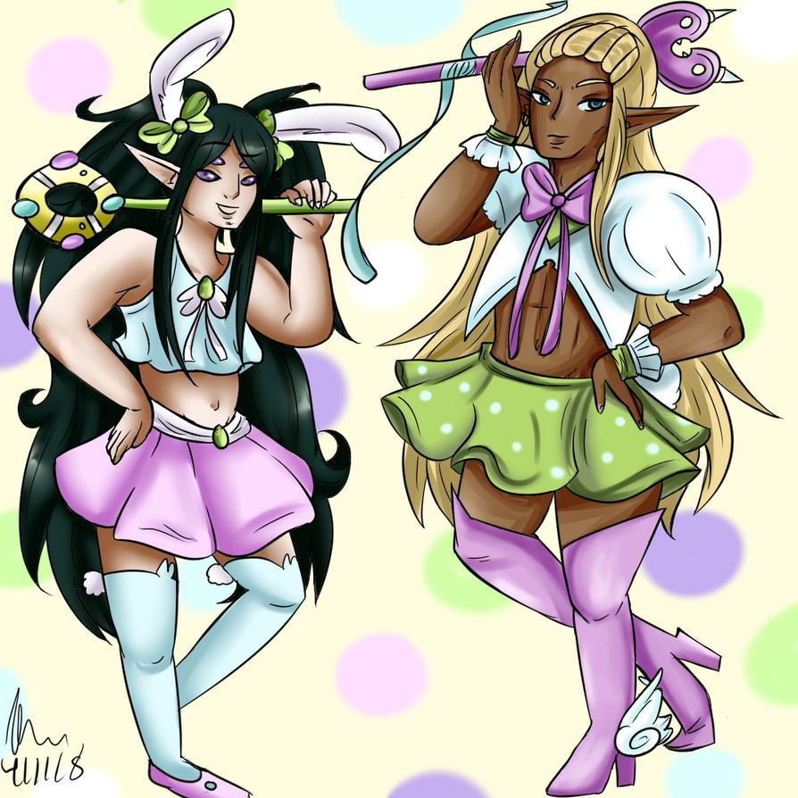 April Easter Fools Day - Benaiya and Sayano by Sniffy678578