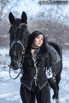 winter Yennefer cosplay