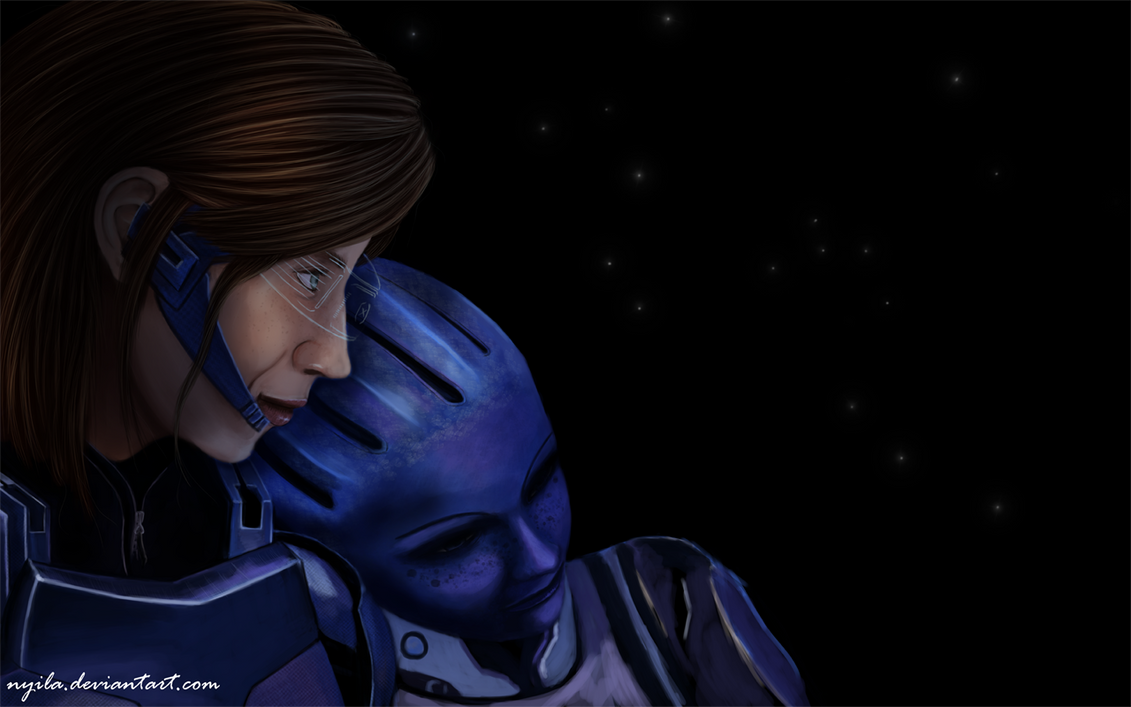 Mass Effect 3 - Eve Shepard and Liara  unfinished  by NyilaMass Effect 3 Liara And Shepard