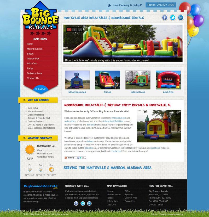 Moonbounce, Kids, Party - Joomla 2.5 Web Template by webunderdog ...