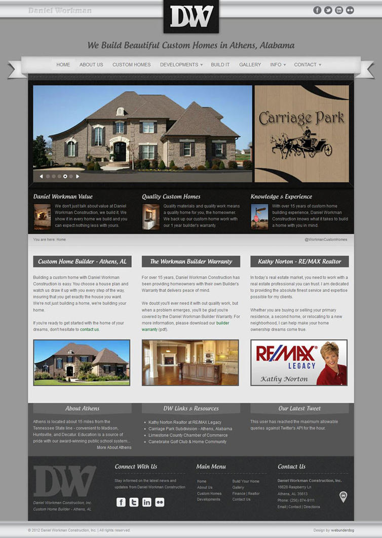 Joomla web design template home builder realty by for Joomla template builder software