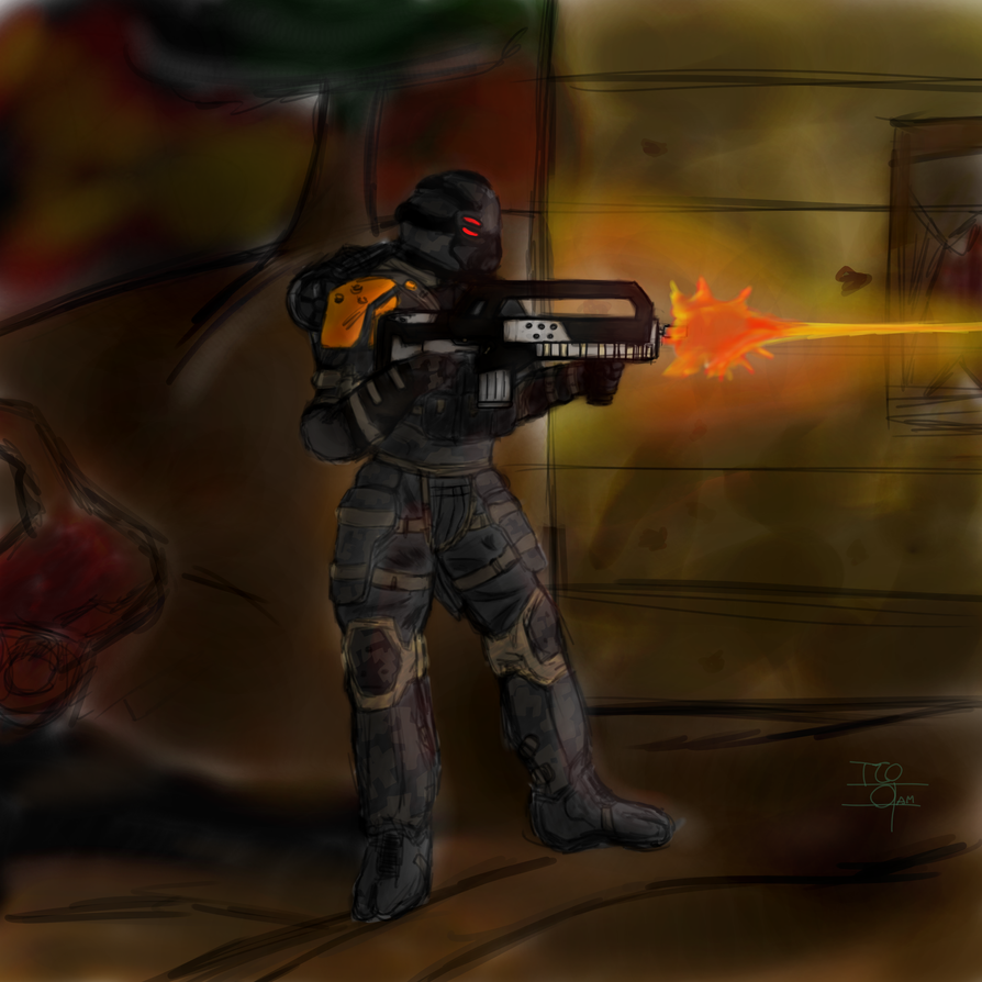 Carrion Marine In Combat by TheCobaltOcean