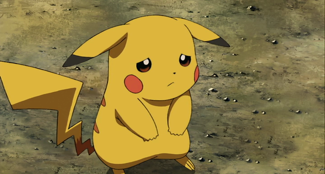 Image result for sad Pikachu