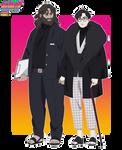 [naruto oc] Tsutsura x Ran -Boruto- couple ref by romanov-art
