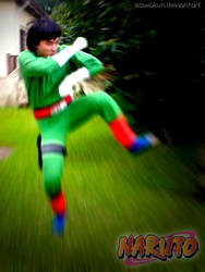 Naruto Cosplay: Lee Kick by SawaKun
