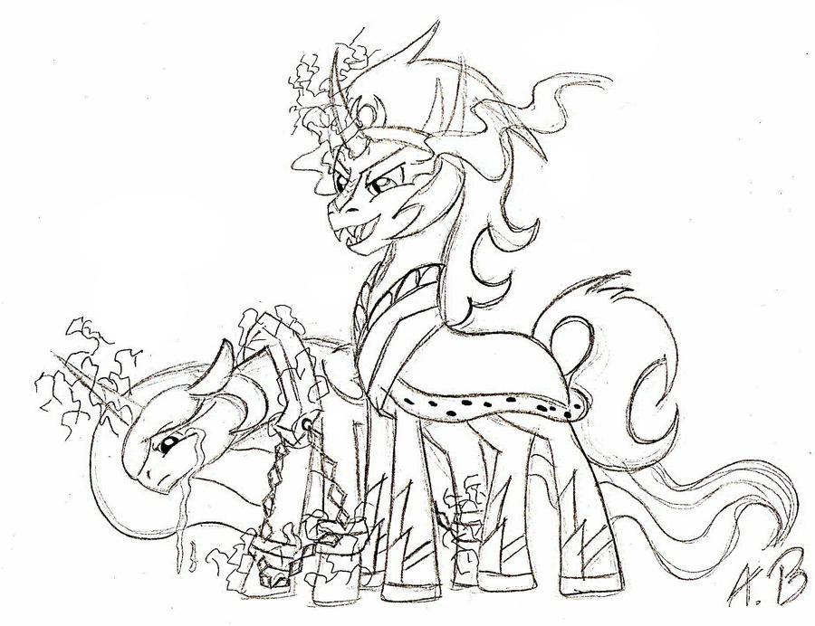 My Little Pony King Sombra Coloring Pages : King and his slave by anzu on deviantart