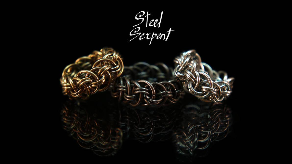 'Orbital Vipera Berus' Stainless Steel rings