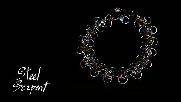 'Honey Bee' Stainless Steel Chainmail Bracelet