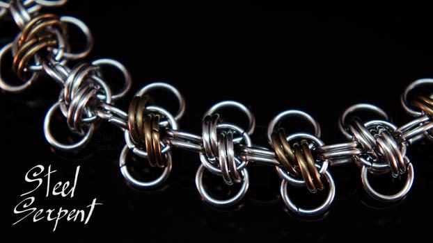 'Honey Bee' (Macro) Stainless Steel Bracelet