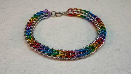 Rainbow 'Full Persian' Aluminum Bracelet
