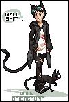 Lucky Cat Pixel by OnionGrump