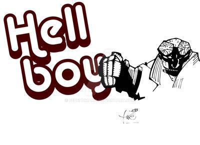 hellboy fan art by fedehumano