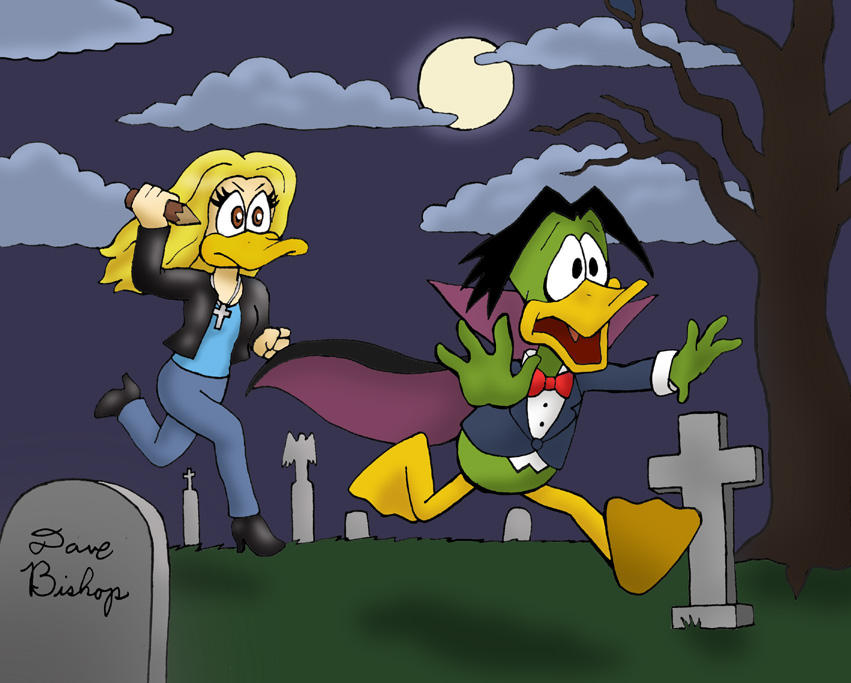 Buffy Vs. Duckula by rocketdave