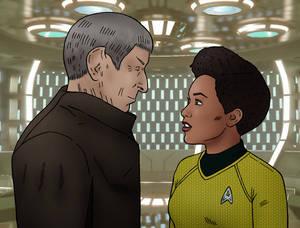 Spock Prime and Kelvin Burnham