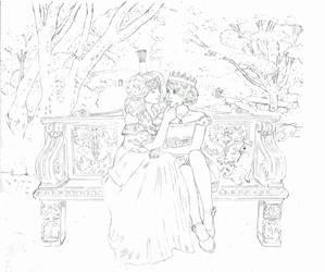 Dorothy and Ozma sketch