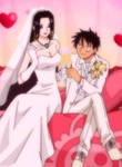 Luffy and Hancock's wedding