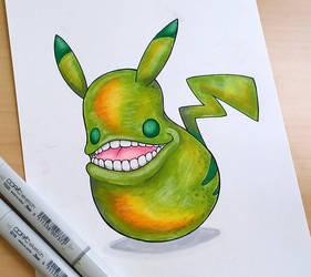 'Pear'kachu by Teresa-Tsareena
