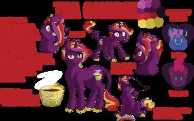 Tea Charm- Character Sheet (2018) by songbirdDEIGE