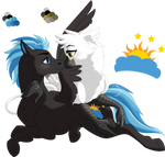 COMMISSION- Nimbus and Jacquelyn (2018) by songbirdDEIGE