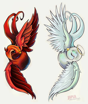 Devil and Angel Swallows