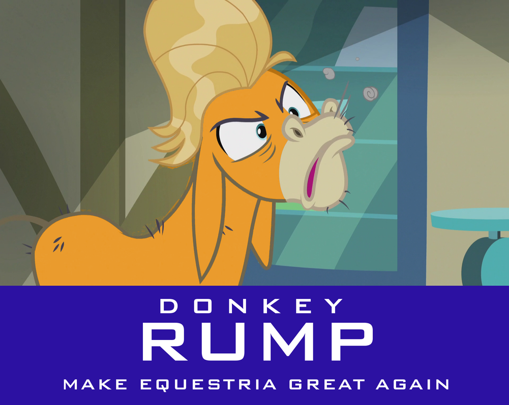 Donkey Rump - Make Equestria Great Again by mythrilmoth