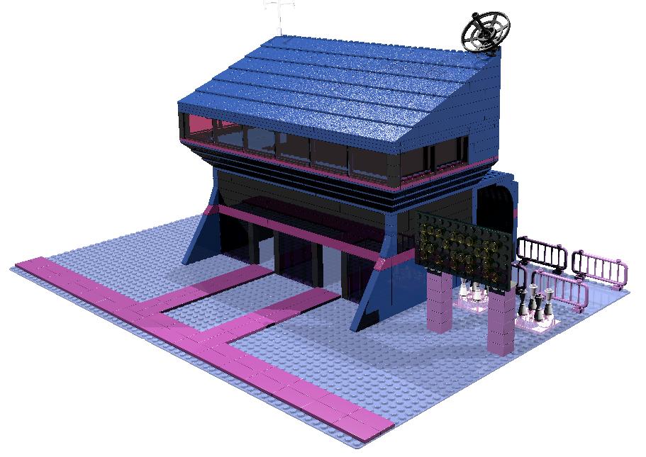 Lego Equestria Girls Fortress of Sparkletude by mythrilmoth