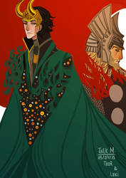 Thor and Loki by JackLioncourt