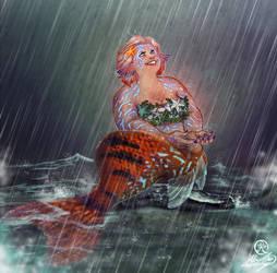 Pose Reference Mermaid Rowena