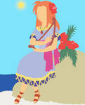 Marin (Legend of Zelda Link's Awakening) by chachaXevaXjeffrey