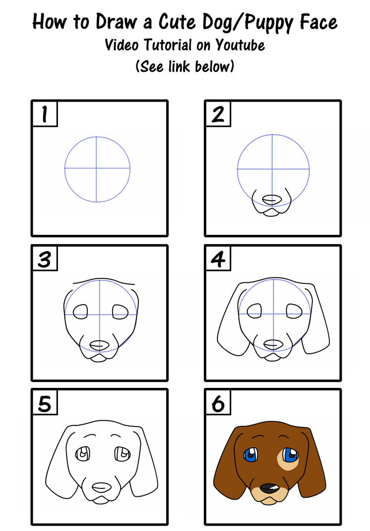 Youtube · How To Draw A Cute Puppy Dog Face By Savannaw On Deviantart