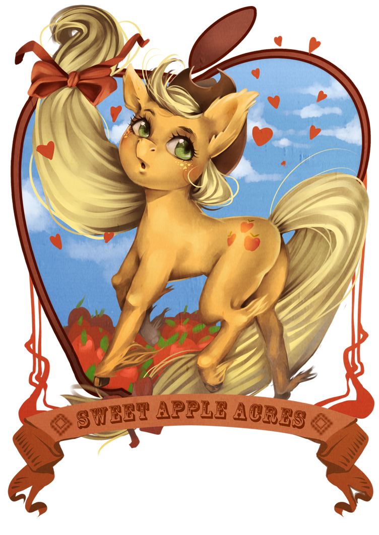 applejack by raspbearyart