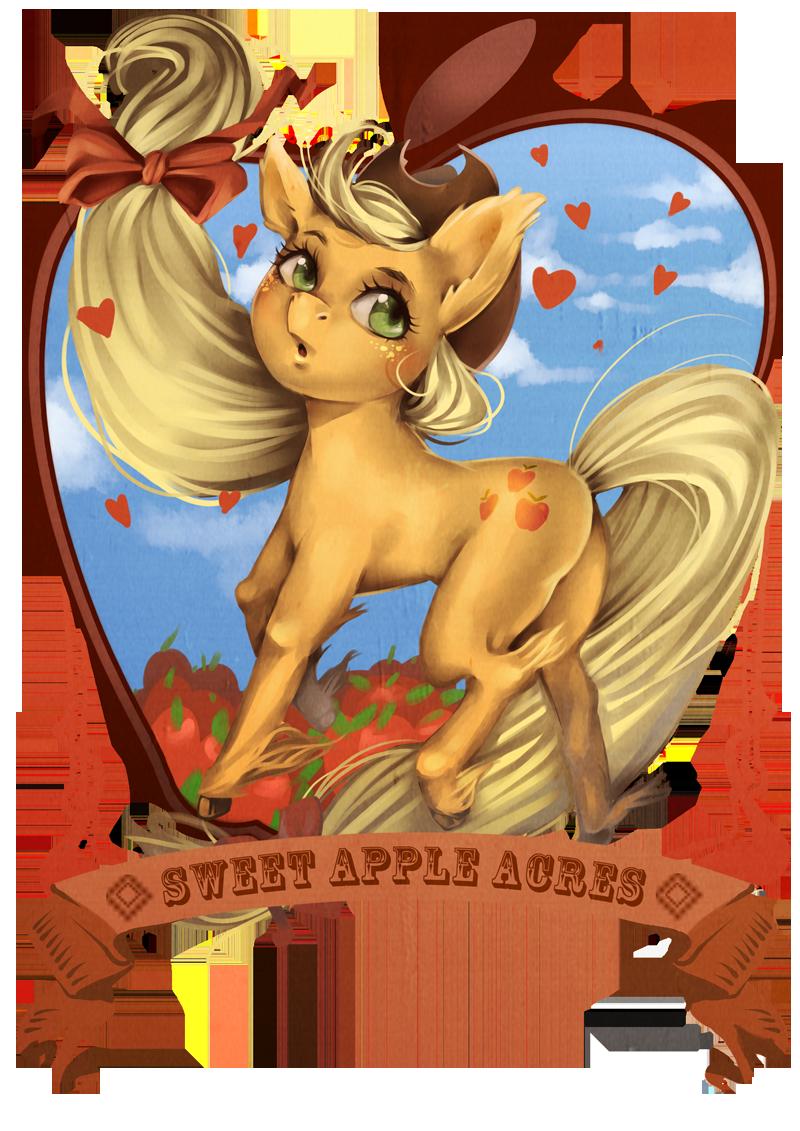 applejack by raspbearyart