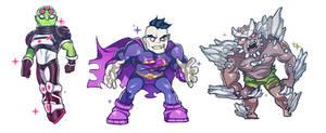 super baddies by raspbearyart