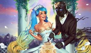 wedding by raspbearyart