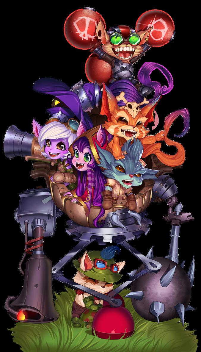 the gang by raspbearyart